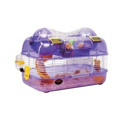 Cage for rodents 435x27x288 cm whitepurple