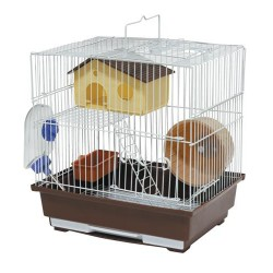 Cage for rodents 30X23X31 CMwhitebrown