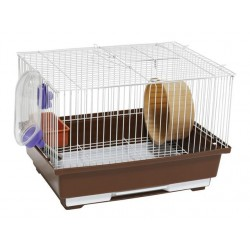 Cage for rodents 30X23X20 CMwhitebrown