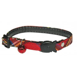 Collar for cats with bell 1x2026cm red