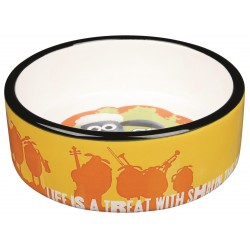 Miska ceramiczna - Baranek Shaun, 0.3 l/o 12 cm, pomarańczowa
