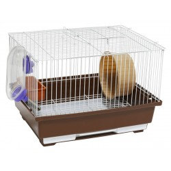 Cage for rodents 30X23X20 CMwhiteyellow