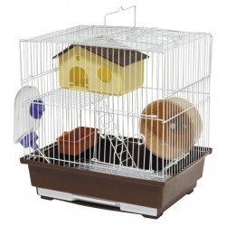 Cage for rodents 30X23X31 CMwhiteblue