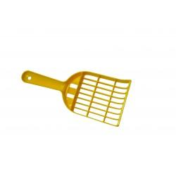 Łopatka do kuwety, plastikowa, żółta 25x10cm