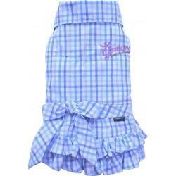 Sukienka w kratkę, niebieska,SD-S 23-25cm/36-38cm