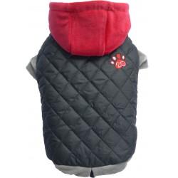 Kurtka szara z czerwonym kapturem,SD-L 31-33cm/46-48cm