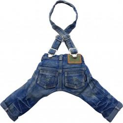 Spodnie z szelkami, jeansowe,SD-XXL 36-38cm/56-58cm