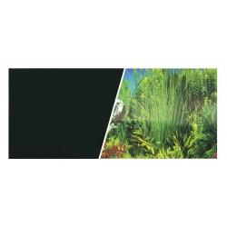 """Dwustronne tło do akwarium """"Akwarium/Czarne"""" 45x750cm"""