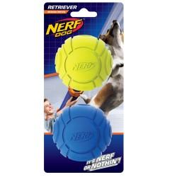 Gumowa żłobiona piłka NERF, S niebieska/zielona