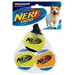 Zestaw piszczących piłek tenisowych NERF S, 5cm, 3SZT/OPAK
