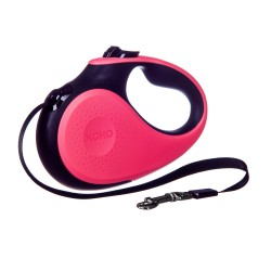Barry King Rectractable leash 5 Meter Tape 16ft for 25kg in pinkblack color