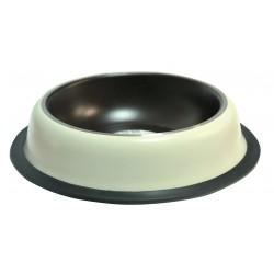 Miska na gumie, malowana, beżowo/brązowa 2,7 L