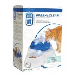 Fontanna wodna dla kotów i małych psów z miseczką do żywności