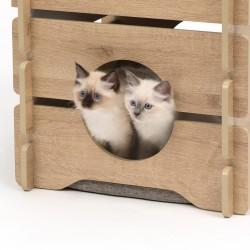 Domek dla kota Catit Vesper Cottage 50x50x49cm, Dąb