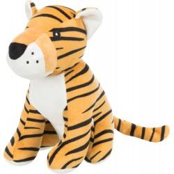 Tygrys, zabawka, dla psa, plusz, 21 cm, z dźwiękiem