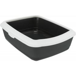 Classic, kuweta, dla kota, ciemnoszara/biała,plastik, 37 15 47 cm