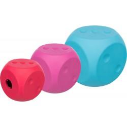 Snack cube, kostka na smakołyki, dla psa, guma naturalna, 7x7x7 cm, różne kolory