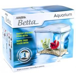 Zestaw akwarium Marina Betta 6,7L, 16 x 15.5 x 16 cm, biały