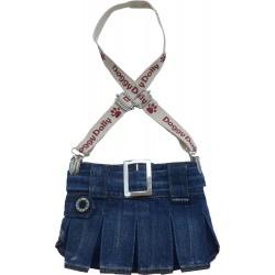 Spódniczka z szelkami, ciemny jeans,SD-L 31-33cm/46-48cm