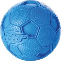 Piszcząca piłka nożna NERF, M, zielona/niebieska