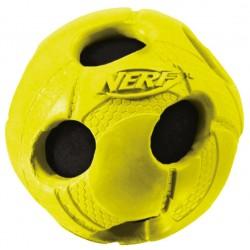 Owinięta piszcząca piłka NERF, S, zielona/niebieska