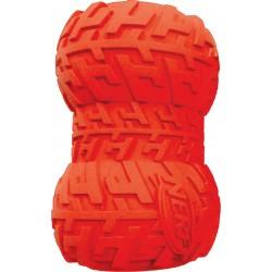 Gumowa piszcząca bombka z bieżnikiem NERF, L, niebieska/czerwona,m