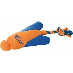 Wyrzutnia z zabawką do szarpania NERF, M, zielona/pomarańczowa