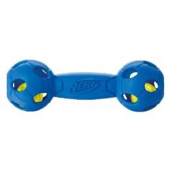 Świecąca piłka footballowa NERF LED, średnia, 14cm, niebieska/czerwona