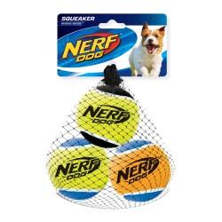 Zestaw piszczących piłek tenisowych NERF , M, 6,5 cm, 3SZT/OPAK