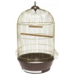 Klatka dla ptaków 40x40x70 cm złoto/brązowa