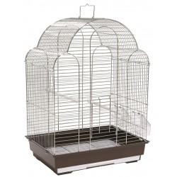 Klatka dla ptaków 42x30x57 cm srebrno/brązowa