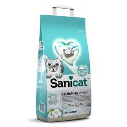 Clumping White, żwirek, dla kotów, bentonit, cotton fresh, 20L, zbrylający