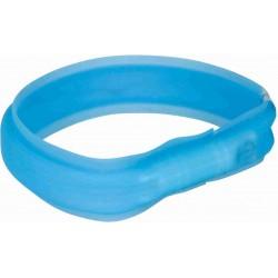 Obrecz z lampą błyskową USB, M–L: 50 cm/30 mm, niebieska