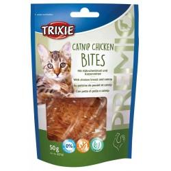 Przysmak PREMIO Catnip Chicken Bites, kurczak i kocimiętka, 50 g,