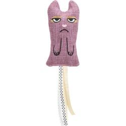 Kot z frędzlami XXL, zabawka, materiał, 15 cm, z kocimiętką