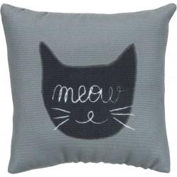 Meow, poduszka, materiał, z kocimiętką