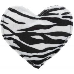 Pluszowe serce, dla kota, z walerianą, plusz, 14 cm