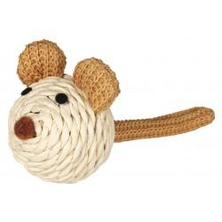 Myszka z grzechotką ze sznurka, 5cm