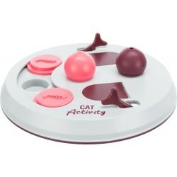 Cat Activity Flip Board, gra strategiczna, jagodowy / różowy / jasnoszary, o 23 cm