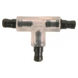 3 Way valve, o 5 mm, transparent