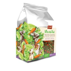 Vita Herbal dla gryzoni i królika, ziele owsa z marchewką, 150 g, 4szt/disp