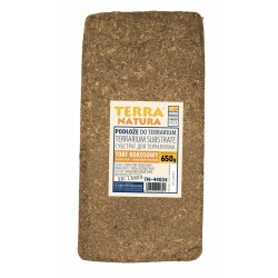 Podłoże do terrarium brykiet torf kokosowy foliowany 650g kraj pochodzenia Sri Lanka