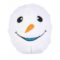 Piłki śnieżynki, pluszowe z dźwiękiem, 10 cm 6szt/op