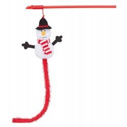 Zestaw wędek z bałwankiem dla kota, 31 cm , 6szt/OPAK