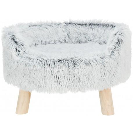 Harvey, sofa, dla psa/kota, okrągła, biało-czarna, 46x28cm