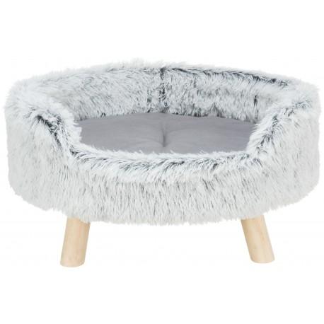 Harvey, sofa, dla psa/kota, owalna, biało-czarna, 60x28x54 cm