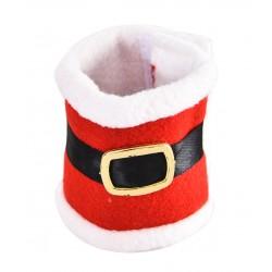 Świąteczna dekoracja łap dla psa, czerwony, 17cm, na rzep, 2szt./op.