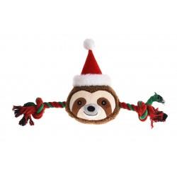 Zabawka dla psa, Sznur z pluszowym leniwcem, 46x23,5cm