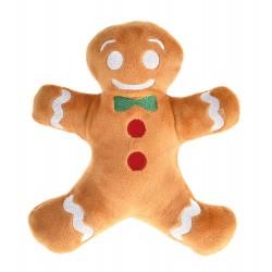 Zabawka dla psa, Pan Pierniczek pluszowy, brązowy, 16,5x21cm, piszczący