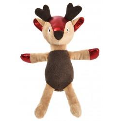 Zabawka dla psa, Renifer pluszowy, brązowy, 23x31cm